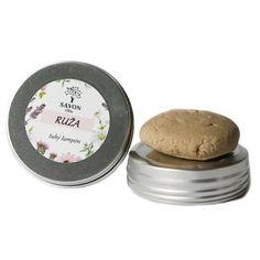 Přírodní tuhý šampon Růže 60 g - hliníková přenoska Savon - Krásná Každý Den Food, Soap, Essen, Meals, Yemek, Eten