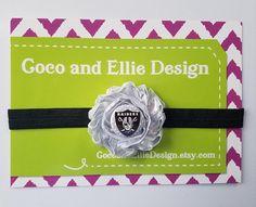 NFL Oakland Raiders headband-girl oakland raiders
