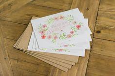 "4er+Postkartenset+""BridesmaidFLOWER""+von+Papier+&+Feder+auf+DaWanda.com"