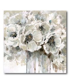 Shop for Portfolio Canvas Decor Quiet Moments Canvas Wall Art. Get free delivery On EVERYTHING* Overstock - Your Online Art Gallery Store! Canvas Wall Decor, Canvas Art Prints, Painting Prints, Painting Art, Wall Mural, Square Canvas, Flower Art, Flower Petals, Floral Prints