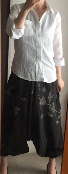 Vintage kimono saruel pants