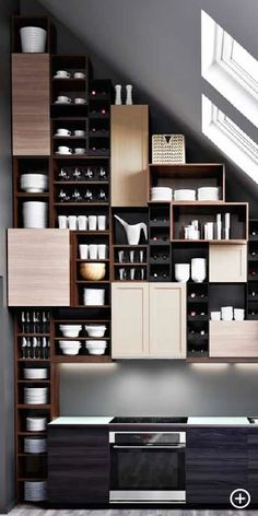 Brilliant storage space for under stairs or in small spaces...