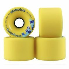 Orangatang Stimulus Skateboard Longboard Wheels Yellow 70mm 42mm Contact 86a