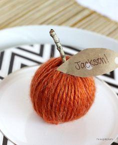DIY Pumpkin Place Card by hi sugarplum!