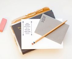 Make Business Cards with these really cool stamp kits. Vintage inspired by Mae Mae!