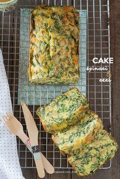 Plumcake con spinaci e ceci