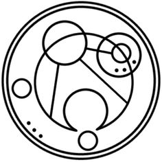 """""""Bazinga"""" written in circular Gallifreyan requested by for-the-love-of-emily"""