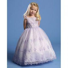 Angels Garment Lilac Criss Cross Tie Back Easter Dress Girls 2T-6