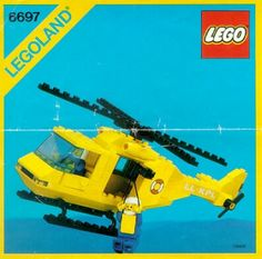 LEGO 6697 Rescue-I Helicopter instructions displayed page by page to help you build this amazing LEGO Town set Lego Sets, Legos, Radios, Bloc Lego, Lego Helicopter, Lego Boxes, Classic Lego, Vintage Lego, Miniatures