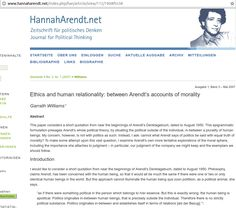 Hannah Arendt A Banalidade Do Mal E A Profundidade Do Bem
