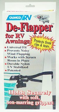 Features: -Protect your valuable RV awning from costly rips and tears while preventing noisy wind flapping. -Holds securely with Velcro straps. -Distressed: No. -Gloss F Tenda Camping, Rv Camping, Camping Hacks, Camping Ideas, Glamping, Camping Supplies, Camping Stuff, Stealth Camping, Florida Camping