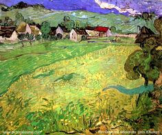 Vincent van Gogh. View of Vessenots Near Auvers. Auvers-sur-Oise: May 1890