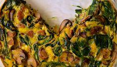 Finalizando Receitas Saudáveis Torta De Espinafre Com Ricota e Cogumelos