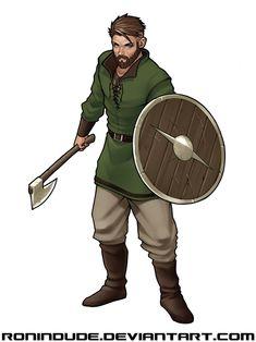 Daily Drawing - Viking Dude by RoninDude on DeviantArt Game Character Design, Fantasy Character Design, Character Design Inspiration, Character Concept, Character Art, Fantasy Races, Fantasy Warrior, Fantasy Rpg, Fantasy Artwork