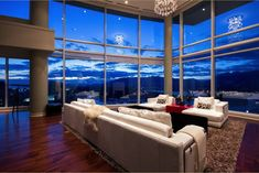 Living Room of Penthouse in Vancouver