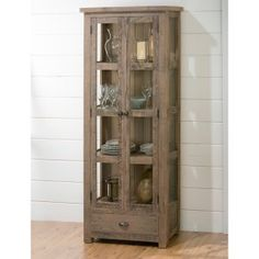 Faithful 1860s Amoire With Glass Doors Factory Direct Selling Price Reproduction Cabinets Antiques