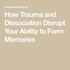 People who undergo traumatic events may struggle to fully remember them afterwards. When trauma is prolonged, a person may develop pervasive memory issues. Mental Health Conditions, Mental Health Matters, Mental Health Awareness, Emotional Resilience, Emotional Abuse, Trauma, Ptsd, Antisocial Personality, Altered State Of Consciousness