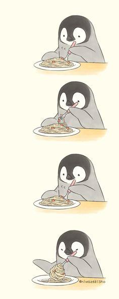 Cute Animal Drawings Kawaii, Cute Cartoon Drawings, Kawaii Wallpaper, Wallpaper Iphone Cute, Cute Penguin Cartoon, Penguin Cartoon Drawing, Baby Animals Super Cute, Dibujos Cute, Cute Penguins