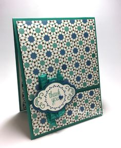 A Pretty Thank You by - Cards and Paper Crafts at Splitcoaststampers Hand Made Greeting Cards, Making Greeting Cards, Greeting Cards Handmade, Card Making Inspiration, Making Ideas, Eid Cards, Stampin Up Catalog, Pretty Cards, Paper Cards