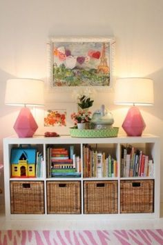 Bookcase for kids room. What do kids spaces really need? Storage, organization, and more storage!