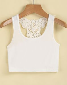 Shop White Sleeveless Embroidered Crop Vest online. Sheinside offers White Sleeveless Embroidered Crop Vest & more to fit your fashionable needs. Free Shipping Worldwide!