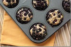 Low Sugar, Whole Grain Blueberry Orange Muffins