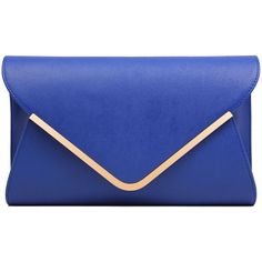 Ilishop Women's Blue Fashion Handbag Clutch: Handbags: Amazon.com (42 CAD) ❤ liked on Polyvore featuring bags, handbags, clutches, blue purse, blue clutches, blue hand bag, handbags & purses and man bag