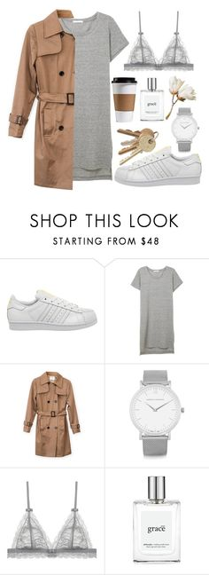 """Untitled #33"" by sincerelyangela ❤ liked on Polyvore featuring adidas, Larsson & Jennings and philosophy"