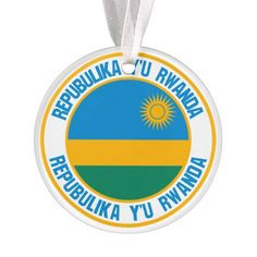 Shop Rwanda Round Emblem Ornament created by KDR_DESIGN. Rwanda Flag, Political Events, How To Make Ribbon, Family Memories, National Flag, Invitation Cards, Flags, Art For Kids, Kids Outfits