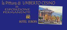 Invito all' esposizione stabile d'arte di Umberto Cesino all'Hotel Europa di Castellammare di Stabia.