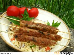 Kebaby z mletého masa Ground Meat Recipes, Barbecue, Sausage, Grilling, Pork, Menu, Treats, Chicken, Cooking