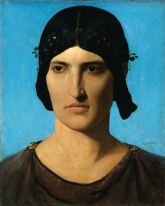 Голова римлянки. Жан-Леон Жером. 1844, 44х36, Музей искусств Кливленд.