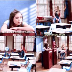"""""""Girl Meets the Real World"""" (I couldn't tell in this scene if Maya was trying to prove a point or was just being her 'bad girl' self lol) Disney Channel Shows, Disney Shows, Funny Disney, Disney Movies, Disney Movie Collection, Girl Meets World Cast, Disney Theory, Childhood Tv Shows, Boy Meets Girl"""