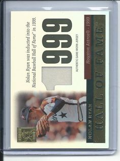 2004 Topps Tribute Hall of Fame Jersey Relic Nolan Ryan Baseball card #TR-NRJ Houston Astros HOF