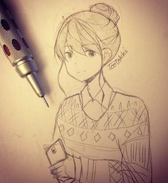 Anime drawing- tootokki ʕ •ᴥ•ʔ