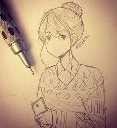 Anime drawing- tootokki ʕ •ᴥ•ʔ