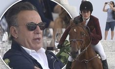 He's used to commanding the limelight while rocking out on stage, but rock icon bruce Sprigsteen was happy to play second fiddle to his showjumping daughter Jessica on Sunday.