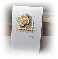 Girl Lace, Button, Natural Jute Button Twine  Clearly Besotted Twinkle Toes Stampp Set  MFT butterfly Die-namics   Papertrey Ink Kraft Cardstock  Nestibilities  Craft Concepts Woodgrain Embossing Folder
