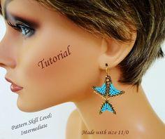 SNAPDRAGON beading tutorial beadweaving pattern beaded jewelry seed bead earrings beading pattern instructions beadweaving tutorials by PeyoteBeadArt on Etsy https://www.etsy.com/listing/97784373/snapdragon-beading-tutorial-beadweaving