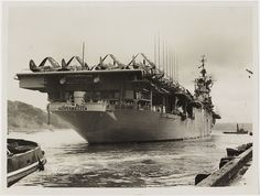Aircraft carrier USS Valley Forge, Sydney Harbour, 1948