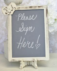 chalkboard sign for guest book  ~noel