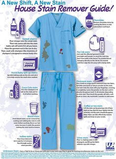 A new shift, a new stain! Extremely helpful to us CNAs, Nurses, Medical Assistants, Surgeons, Doctors, ect.