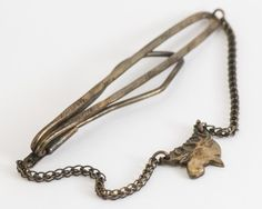 Vintage Tie Clip  Rustic Moose Tie Chain Gold by CuffsandClips, $16.00