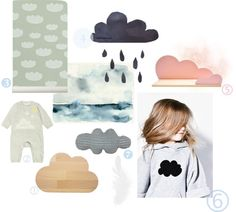 """""""Clouds"""" by paulapaula Childrens Bedroom Decor, Textile Prints, Cool Kids, Clouds, Concept, Future Children, Diy Baby, Scrapbooking Ideas, Kids Rooms"""