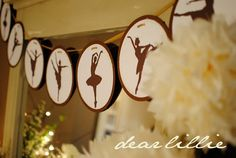 love this ballet banner....great for Annie Francis