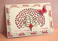 3/25/2012; Rhea; Sending Hugs by  via Flickr; Memory Box and Spellbinder dies + Hearo Arts greeting