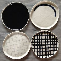 a selection of black ceramics by Angry Pixie. angrypixie.co