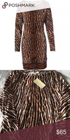 Michael Kors animal print dress. NWT. Size M MICHAEL Michael Kors Dresses
