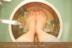 Tea infused foot soa