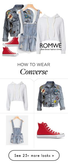 """""""Denim"""" by vrata-597 on Polyvore featuring Alice + Olivia, Monrow and Converse"""